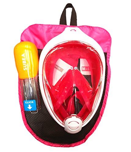 Original subea von Tribord easybreath Schnorcheln Full Face Maske Tauchen Pink S-M (Kinder, Damen, Jugendliche) M-L (Erwachsene)