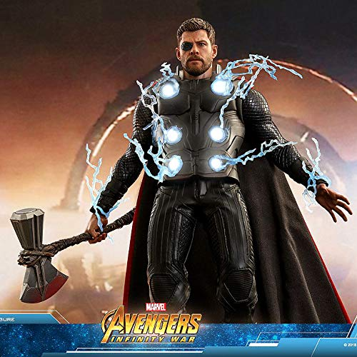 Hot Toys HT 1/6th Scale Action Figure Thor Avengers 3 Infinity War MMS474 Stormbreaker Chris Hemsworth LED Light up