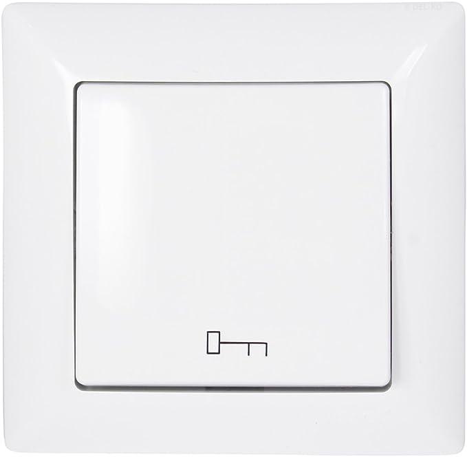 12x Gunsan Visage Taster Lichtsymbol Unterputz Weiß Rahmen+Einsatz 1281100200105