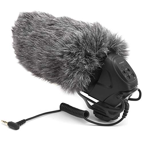 Vbestlife Micrófono para entrevistas, cámara BM3031 Micrófono para grabación de entrevistas con reducción de Ruido Micrófono direccional supercardioide