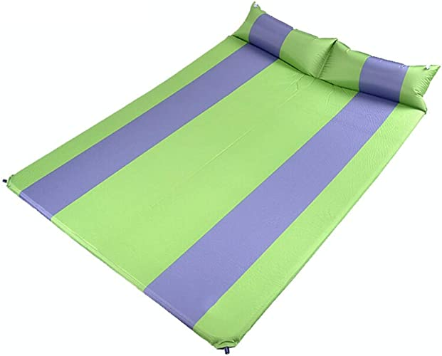 LSX Tapis imperméable à l'humidité en Plein air Camping Tente de Camping Tapis Tapis de Couchage Tapis de Marche Vert Jouer Coussin Gonflable Double