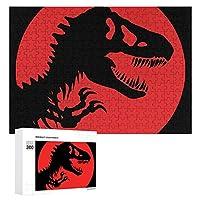 Rex Skeleton Dinosaur 300ピースジグソーパズル木製パズル 子供 グッズ 初心者向け ギフト 人気 減圧知育玩具大人 耐久性 高級印刷 無毒 無臭 無害 難易度調整可能 プレゼント