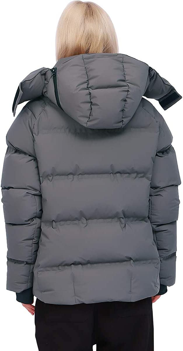 Thickened Down Jacket for Women Super Warm Winter Puffer Jacket Hooded Snow Coat,800 Fill Power