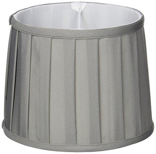 BY rydens – lampenkap Venice van katoen plissé diameter 18 cm ventilatoren B23 – kleur grijs
