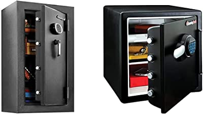 SentrySafe EF4738E Fireproof Waterproof Safe with Digital Keypad, 4.71 Cubic Feet & SFW123FUL Fireproof Waterproof Safe with Digital Keypad, 1.23 Cubic Feet