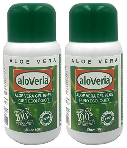 PURES ALOE GEL 99,6 % - ALOVERIA® Aloe Vera Pur, kaltgepresst aus Gran Canaria x 2