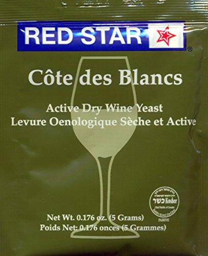 Red Star Cote des Blanc Wine Yeast, 5g - 5-Pack