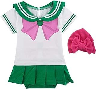 JarilnMo Sailor Moon Baby Girl Cosplay Onesie Dress Japanese Anime Babies 6M-24M (18M, Green)