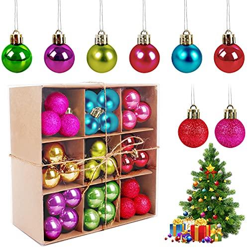 Palle di Natale, 99 Pezzi Colorati Natale Palline per Albero Natalizie Ornamento Decorazione Le Palle Di Natale Set Palline Natalizie Decorazioni Addobbi Feste per Albero di Natale Fai Da Te