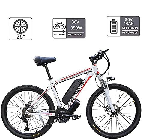 CASTOR Bicicleta electrica Bicicletas eléctricas para Adultos, Bicicleta de aleación de aleación de Aluminio 360W extraíble 48V / 10Ah Batería de Litio Bicicleta de montaña/Bicicleta de Viaje