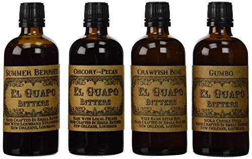 El Guapo Bitters Louisiana Pack - 4 full size bottles for the price of 3!