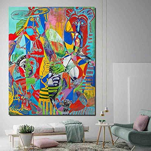 Geiqianjiumai Maler abstrakte Leinwand Malerei nordische Wand Landschaftsmalerei Wand Poster Poster drucken Bild Büro Wohnzimmer Wohnkultur rahmenlose Malerei40X50cm