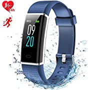 Fitness Tracker AISIRER Color Screen Smart Bracelet with Heart Rate Monitor Watch Sleep Monitor IP68 Waterproof Pedometer Calorie Counter 14 Sport Modes Activity Tracker for iPhone and Android Smartphones for Adults Kids (Black)