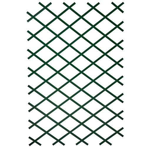 Lot de 2 barrières treillis extensibles en bois coloris taupe 20-100cm