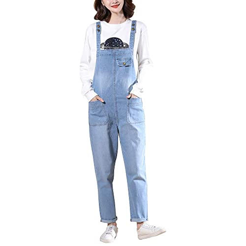8f6a1b65dd8 Gooket Women s Regular Fit Denim Dungarees Casual Long Denim Bib Overalls  Jumpsuit Playsuit Jeans Pant Trousers