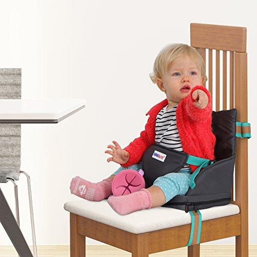 Boostersstoel voor peuters - praktisch opblaasbaar kinderzitje   gemakkelijk in de tas op te bergen, eenvoudig op de stoel te monteren – reisstoel, draagbare zitverhoger met luchtkussen.