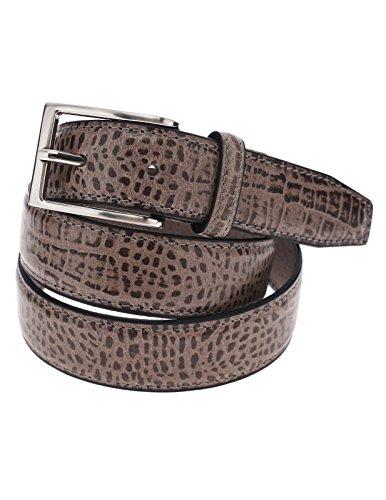 FLATSEVEN, Cintura da uomo in vera pelle di coccodrillo, cintura classica