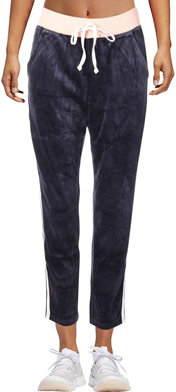 Juicy Couture Black Label Womens Velour Lightweight Track Pants