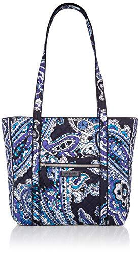 Vera Bradley Signature Cotton Small Vera Tote Bag, Deep Night Paisley