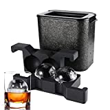 Ticent Whiskey Ice ball Molds Ice-Cube-Trays - Crystal Clear Ice...