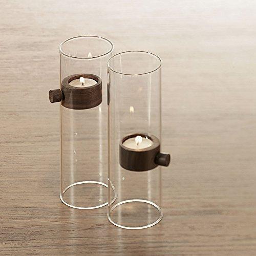 Philippi Lift Kerzenhalter, Glas, braun, 20cm