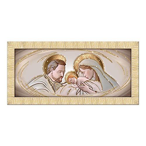 Lupia Quadro Sacra Famiglia Prince 65X135 cm The Kiss Ceramic Gold