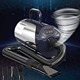 Newest Dog Dryer Professional Grooming Dog Hair Dryers For Dogs With Led Screen High Velocity Dog Blower Dryer Low-noise 8 Adjustable Speeds Temperature Controllab Pet Force Blow For Pet Grooming3.2HP
