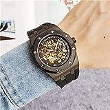 Chica reloj regalo de cumpleaños regalo del día de Mira el esqueleto de los hombres Reloj mecánico automático de oro Esqueleto de oro Retro Relojes para hombres y hombres Relojes de los hombres 5