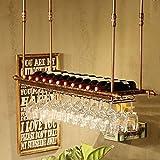 Verre à vin Porte-bouteille Porte-verre Goblet rack Hauteur réglable mur occasionnel Sipper vin Collection Design moderne...