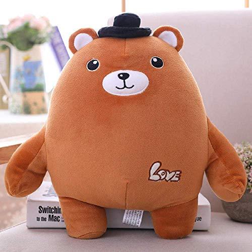 DINGX R 35/50 cm de dibujos animados lindo pareja oso grasa felpa juguete Super suave animal relleno muñeca niños niña regalo de cumpleaños-50 Cm_Dark_Brown chuangze