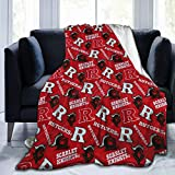 Rutgers Scarlet Knights Fleece Blanket Plush Bed Throw for Couch Or Bed Warm Throw Blanket All Season Sofa Blankets 50'X40'