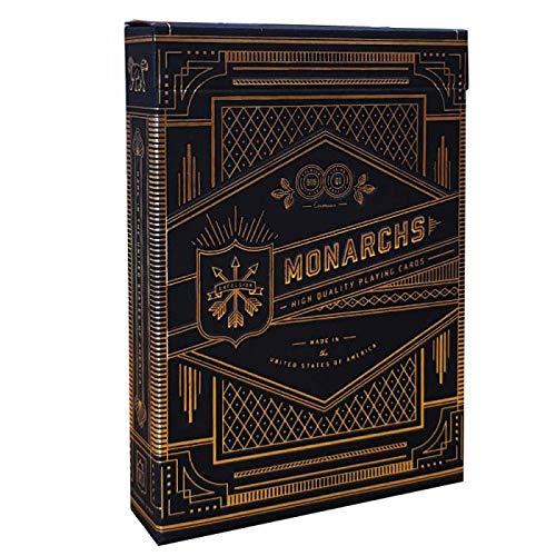 Carte da gioco Monarchs Black deck by Theory11