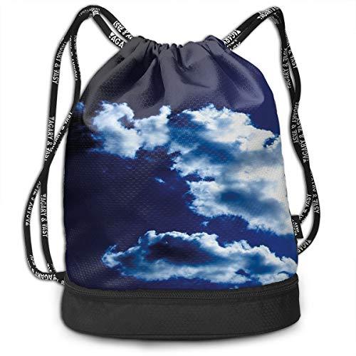 DPASIi Mochilas con cordón, diseño de cielo y nubes dramáticas, fenómenos naturales, atardecer y amanecer, cierre de cuerda ajustable