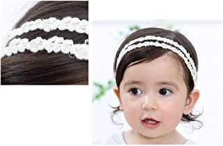 Fliyeong New Cute Baby Flower Headband Girl Lace Infant Hair Weave Baby Accessories Creative and Useful