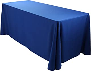 E-TEX Oblong Tablecloth - 90 x 156 Inch - Royal Blue Rectangle Table Cloth for 8 Foot Rectangular Table in Washable Polyester