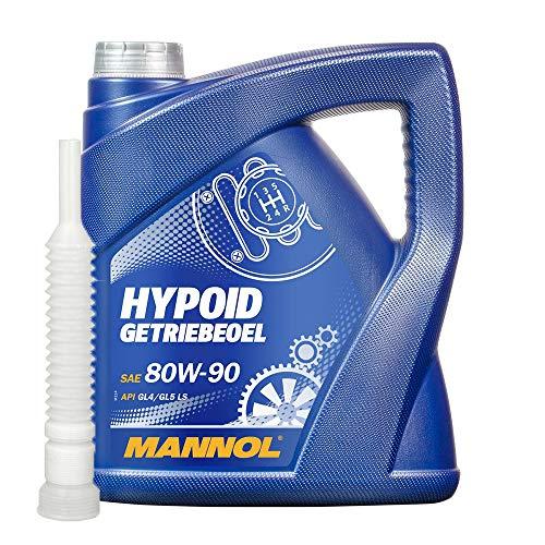 MANNOL 1x4 Liter Hypoid Getriebeoel 80W-90 API GL-4/GL-5 LS (Limited Slip) Ink.Auslaufshlauch