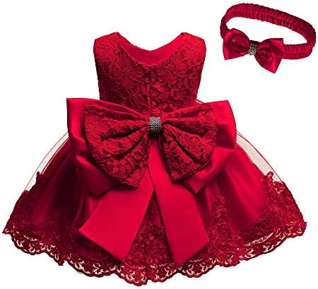 Baby Girls Red Dresses for Girls 6 Months Dresses for Toddlers Sleeveless Party Wedding Red product image
