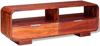vidaXL Solid Sheesham Wood TV Cabinet 116x30x40cm Entertainment Unit Stand