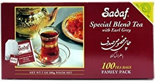 Sadaf Special Blend Tea Earl Grey, 100-Count