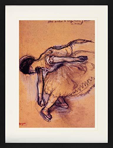 1art1 Edgar Degas - Bailarina Póster De Colección Enmarcado (80 x 60cm)