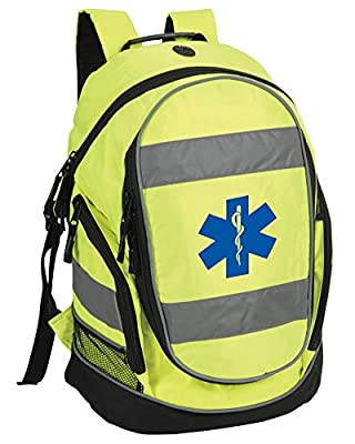 Star of Life Hi-Vis Rucksack/Work Bag suitable for First Responder, Paramedic, Ambulance, Medic FREE DELIVERY by