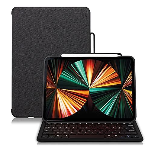 iPad Air3/Pro 10.5soporte para Bluetooth inalámbrico resistente al agua, funda Smart Magnetic atracción(iPadAir3/Pro10.5 pulgadas, negro)