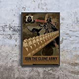 Join The Clone Army Visit The Nearest Death Star Recruting Point Star Wars Empire Propaganda Traveling Movie Poster (XS - A4 8.5 x 11 inch (21x29.7 cm))