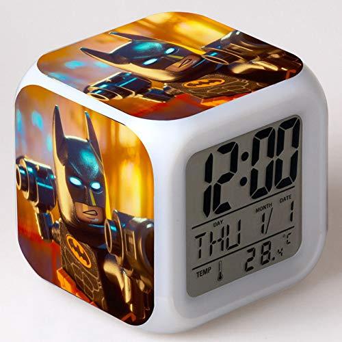 shiyueNB Batman Film LED réveil Dessin animé numérique réveil Enfants Jouets réveiller lumière LED Horloge reloj despertador