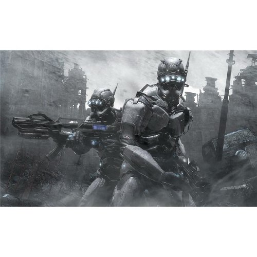 Hellgate London Poster by Silk Printing # Size about (98cm x 60cm, 39inch x 24inch) # Unique Gift # B7D7A7
