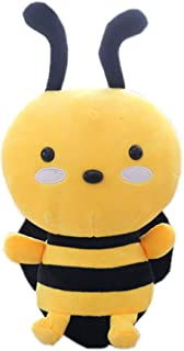 Bumblebee Soft Plush Bee Toy Stuffed Animals Pillow Cute Honeybee Toy, Busy but Happy Different Sizes