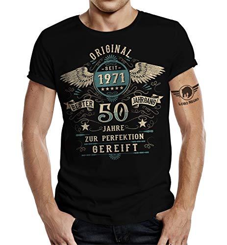 T-Shirt zum 50. Geburtstag Vintage Retro Style L