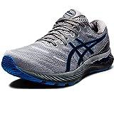 ASICS Gel-Nimbus 23, Zapatillas de Running Hombre, Piedmont Grey Electric Blue, 43.5 EU