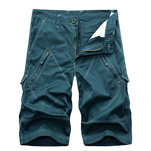 AYG- Pantalones cortos cargo de camuflaje para hombre, tallas 29-40 (tallaje de vaqueros, no todas las tallas tienen un equivalente en el tallaje europeo estándar). , hombre, lake blue#036, XXL