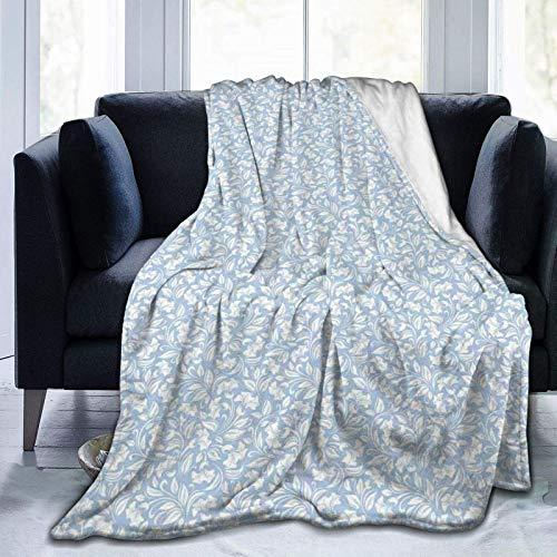 Fluffy Blanket,Illustration of Spring Flowers Foliage Flourishing Nature Design,Super Ultra-Soft Micro Fleece Blanket Baby Blanket Bedroom Bed Quilt TV Bed Blanket 50'x40'
